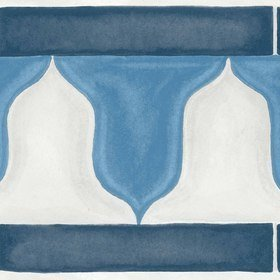 Cole & Son Zellige Border China Blue-White 113-12036