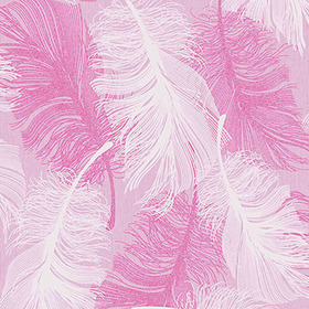 Coloroll Feather Powder Pink M0963