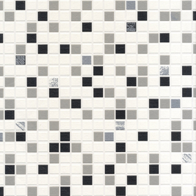 Contour Checker Tile Black-White 19167