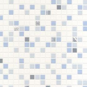 Contour Checker Tile Blue 18091