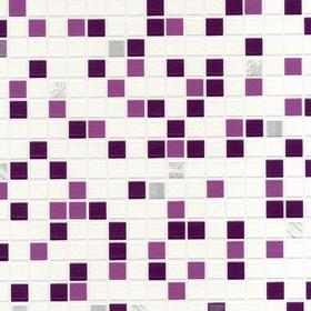 Contour Checker Tile Plum 20-504
