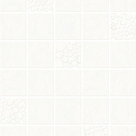 Contour Pebble Tile White 15171