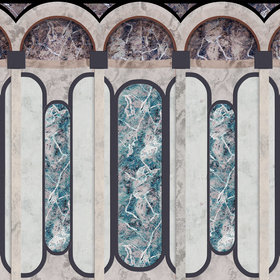 Coordonne Archs Turquoise 8605003