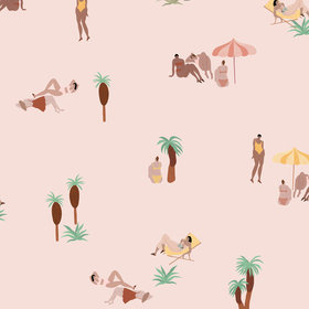 Coordonne Isabelle Feliu One Day At The Beach Pink Sand 8000040