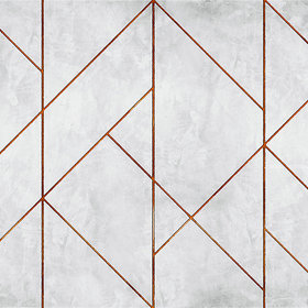 Coordonne La Coupole Geometric Concrete-Copper 7000073