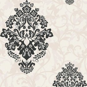 Crown Arabesque Cream-Black M0551