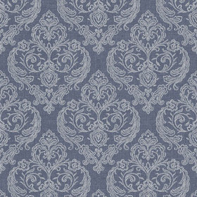 Crown Calico Damask Linen-Blue M1307