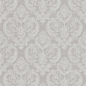 Crown Calico Damask Soft Grey M1309