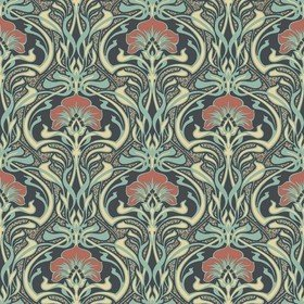 Crown Flora Nouveau Peacock Green M1196