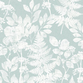 Crown Florence Bracken Aqua-White M1252