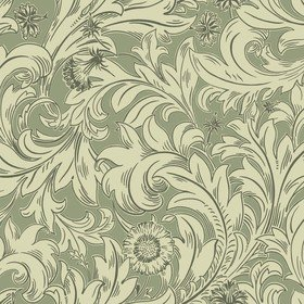 Crown Meadow Scroll Dark Olive M1175