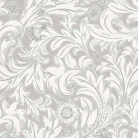 Crown Meadow Scroll Grey M1173