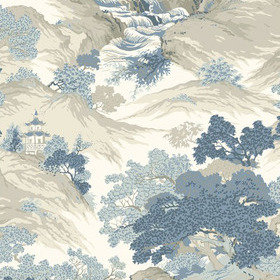 Crown Oriental Landscape China Blue M1190