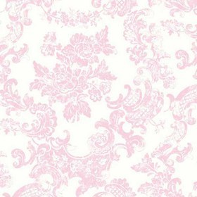 Crown Vintage Lace Damask Pink-White M0756
