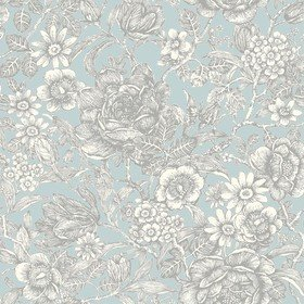 Crown Wild Hedgerow Light Blue M1186