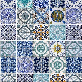 Debbie Mc British Design Lisbon Blue-Multi