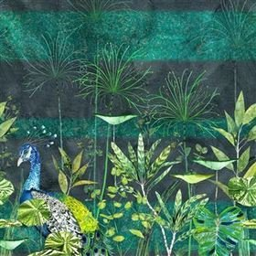 Designers Guild Arjuna Leaf With Peacock Viridian PDG1069-01