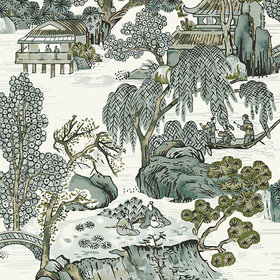 Thibaut Asian Scenic Grey T75463