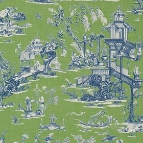 Thibaut Cheng Toile Green and Blue T75467