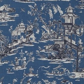 Thibaut Cheng Toile Navy T75465