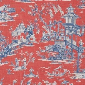 Thibaut Cheng Toile Red and Blue T75466