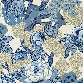 Thibaut Honshu Blue and Beige T75487