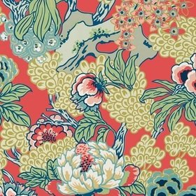 Thibaut Honshu Coral and Green T75490