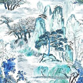Designers Guild Jade Temple Cornflower FDG2296-01