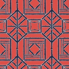 Thibaut Shoji Panel Red and Blue T75518