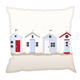 Debbie Mc British Design Beach Huts Cushion