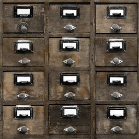 Debbie Mc British Design Dark Wood Vintage Drawers