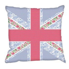 Debbie Mc British Design Floral Jack Strawberry Cushion