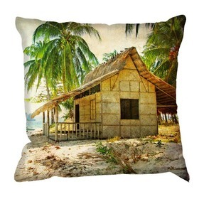 Debbie Mc British Design Hawaii Beach Shack Cushion