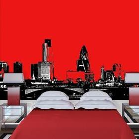 Debbie Mc British Design Modern London - Red