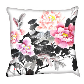 Debbie Mc British Design Oriental Floral Cushion