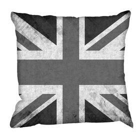 Debbie Mc British Design Vintage Jack B&W Cushion