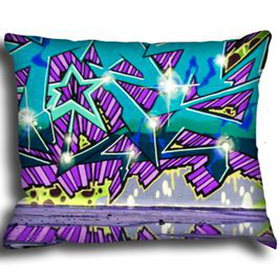 Debbie Mc British Design Wham Azure Cushion