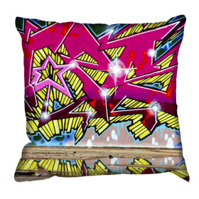 Debbie Mc British Design Wham Hot Pink Cushion