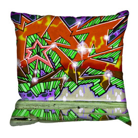 Debbie Mc British Design Wham Tangerine Cushion