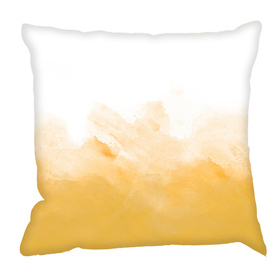 Debbie Mc British Design Yellow Wash Cushion