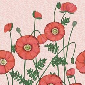 Eijffinger Poppies Red 383609