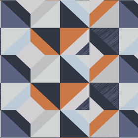 Fardis Harlequin Blue-Orange 12026