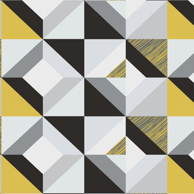 Fardis Harlequin Yellow-Grey 12028