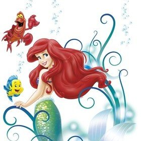 Fine Decor Disney Ariel Wall Sticker 14013H