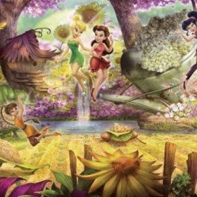 Fine Decor Disney Fairies Forest 4-416