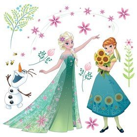 Fine Decor Disney Frozen Flower Window Sticker 16407
