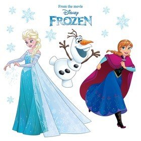 Fine Decor Disney Frozen Snowflake Window Sticker 16408