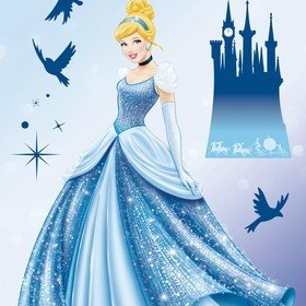 Fine Decor Disney Princess Dream Wall Sticker 14016H