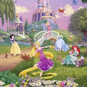 Fine Decor Disney Princess Sunset 4-4026