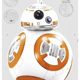 Fine Decor Disney Star Wars BB-8 Wall Sticker 14726H